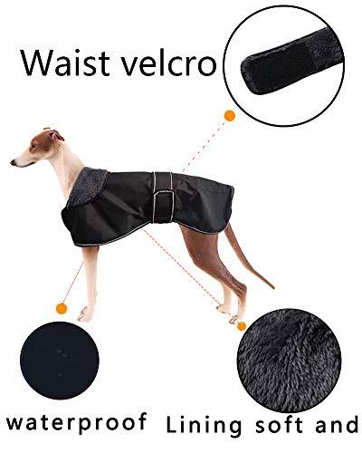 Morezi Wasserdichte Hundejacke für den Winter, mit warmem Fleece-Futter, Outdoor-Kleidung, mit verstellbaren Bändern für mittelgroße und große Hunde - 2