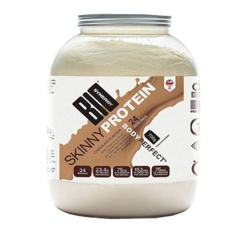 Bio Synergy Skinny Shake Chocolate Flavour Whey Protein, Enriched with Amino Acids, Green Tea, Pantothenic Acid, Carnitine, Chromium. Delicious and Easy to Mix 100% Natural Ingredients