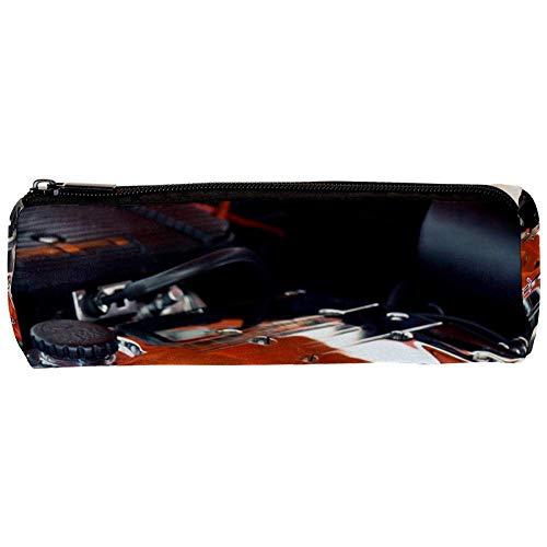 Schlamperbox Federmäppchen Schöner Motor Mäppchen 3D-Druck Bleistift Beutel Kosmetiktaschen Stiftehalter Schulbedarf Briefpapier Geschenk 20x6.3cm