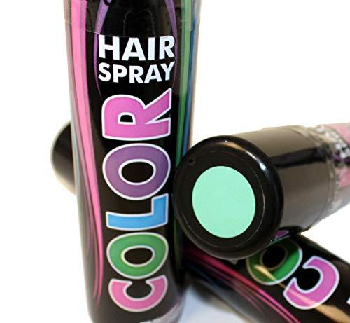 KarnevalsTeufel Haarspray Pastell Töne Spray für die Haare grün lila rosa blau Pastell Farben (Pastell Grün)