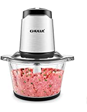 CHULUX universele hakmolen, 2 snelheidsniveaus, voor vlees, groenten, fruit en babyvoeding 2L