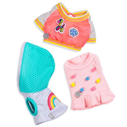 Glitter Girls GG57150Z GG Hundebekleidung Pompon Regenbogen Top Jacke