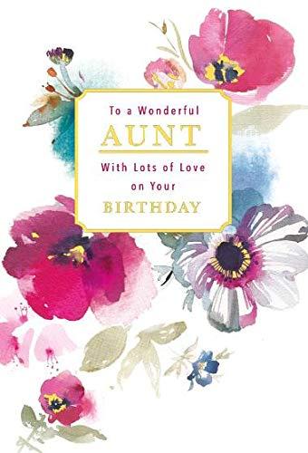 naar een prachtige tante verjaardagskaart ~ met veel liefde