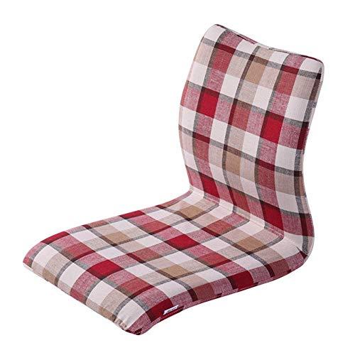 ZHFZD zachte vloerbank, zitleuning ondersteunt het lezen van games en het bekijken van tv-loungestoelen (kleur: rood rood) Size A