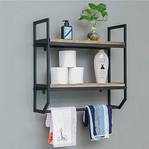 Galvanized Metal Industrial Divided Hanging Wall Storage - Decorative Shelf Organizer