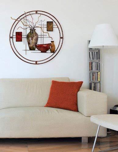 """Benzara 97997 Metal Wall Decor Everyone Admires It, 24 by 22"""", Brown, Multicolor"""