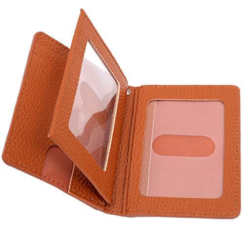 BLUE SINCERE パスケース メンズ 本革 牛革 3面 両面 大容量 9枚収納 薄型 定期いれ スリム カードケース カード入れ / PC5 (レトロキャメル)