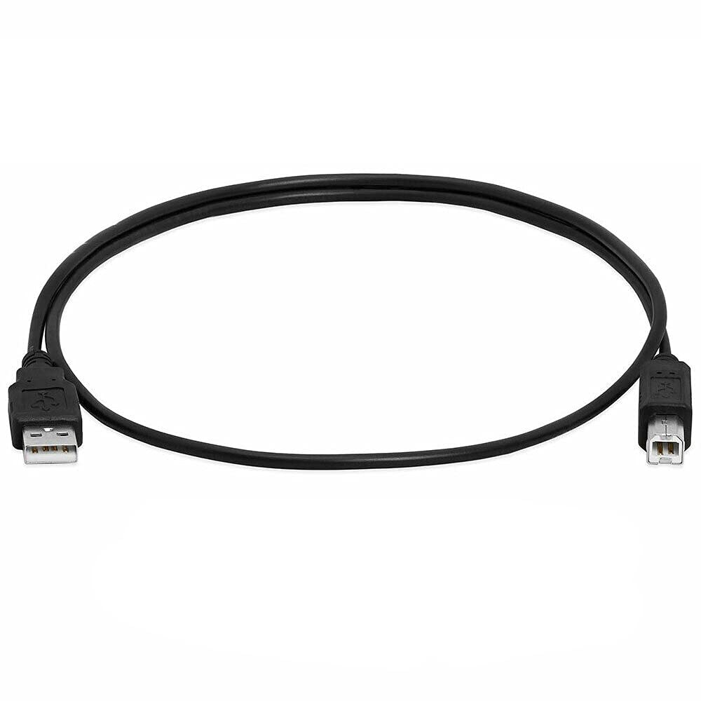 Bestyu Printer Cable USB 2.0 A to B A Male to B Male for HP Cannon Epson Dell Brother (Black, 3FT)