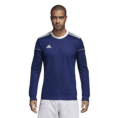adidas Squadra 17 Long-Sleeve Jersey - Men's Soccer L Dark Blue/White