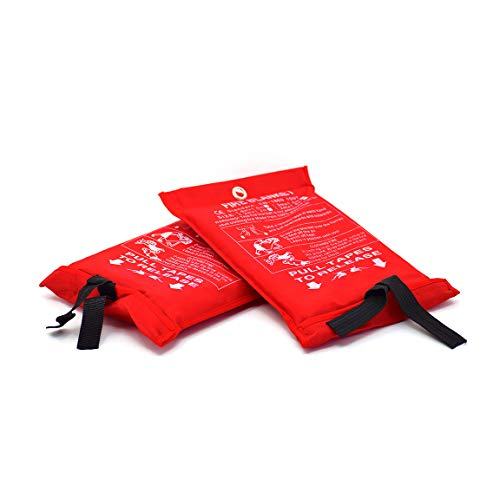 Parcil Distribution PD-452 Emergency Fire Extinguisher Blanket, Large, Pack of 2