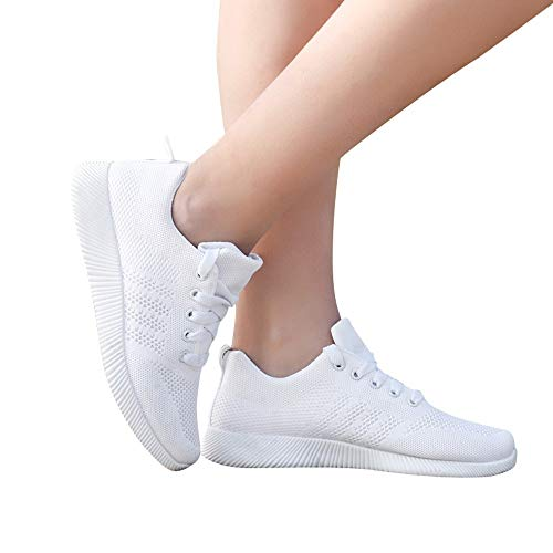 Zapatillas de Deporte Mujer baratas Parejas comodos Suela elástica Zapatos Running Deportivos...
