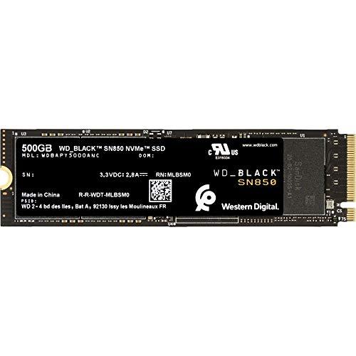 WD Black SN850 500 GB - Disco duro interno SSD NvMe