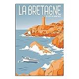 Bretagne Vintage-Reise-Poster, Dekor, Malerei, Poster,