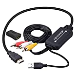HDMI to RCA変換ケーブル HDMI to AVコンバータデジタル 3RCA/AV 変換ケーブル TV/HDTV/Xbox/PC/DVD/Blu-ray Player/PAL/NTSCテレビ - HDMI AVコンバータ HDMI RCA コンポジットケーブル