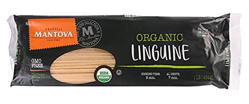 Mantova Italian Organic Linguini Pasta - 100% Durum Semolina Organic Linguine - 16 Oz (Pack Of 10) - Product Of Italy