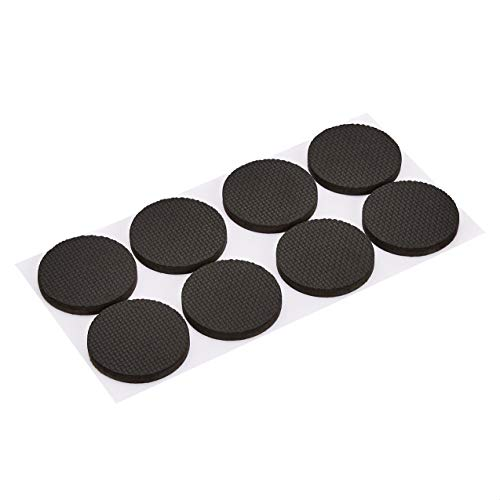 Amazon Basics Gummimöbel gleiten, rund, 2 Zoll Durchmesser, schwarz, 8-teilig