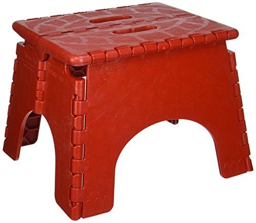 B & R Plastics 1016R E-Z Foldz Red Step Stool