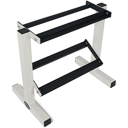 Titan Fitness 2 Tier Dumbbell Rack Stand for Workout Weights Personal Gym WOD