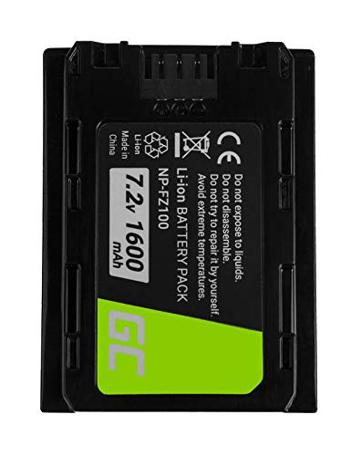 Green Cell® NP-FZ100 NPFZ100 Batería para Sony Alfa Alpha 9 9R 9S A7 III A7R III A9 A9R A9S ILCE-7M3 ILCE-7RM3 ILCE-9 Cámara, Full Decoded (Li-Ion Celdas 1600mAh 7.2V)