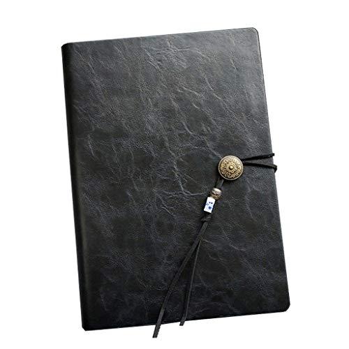 taccuino del diario del taccuino punteggiato Business Notebook in stile cinese Semplice A5 fogli di lavoro a fogli mobili di spessore Notebook portatile 80 pagine quaderno in pelle a5 quaderni economi