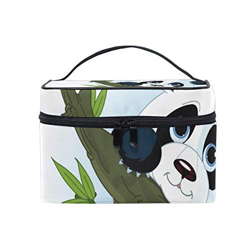 Mignon Pandas Climb Tree Cosmetic Bag Toiletry Travel Makeup Case Poignée Pouch Multi-Function Organizer pour Les Femmes