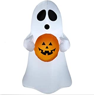 Halloween Inflatable 4 Ft Ghost Holding Pumpkin Airblown Decoration by Gemmy