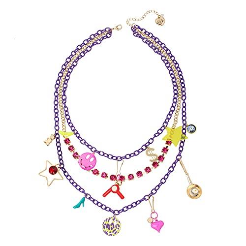 Betsey Johnson Statement Charm Layered Necklace