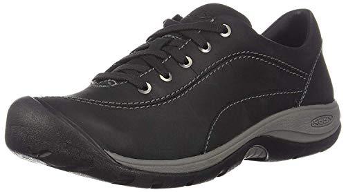 KEEN Women's Presidio II-W Hiking Shoe, Black/Steel Grey, 8.5 M US