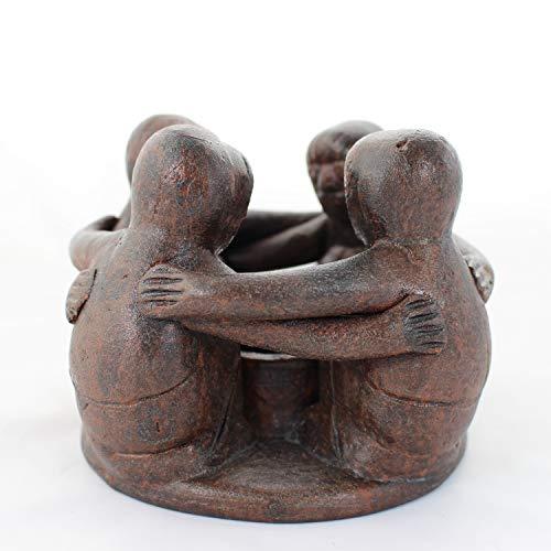 mitienda mit Liebe gemacht Freundschaftskreis 4 Freunde, Teelichthalter, Dekoration, Freundschaft, Deko, Freundeskreis Aus Keramik, Geschenkidee