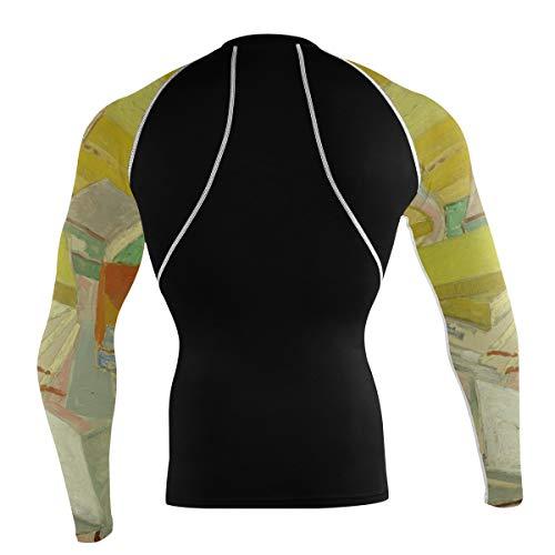 Fantazio Van Gogh T-shirt à manches longues pour vélo de montagne et vélo de route - - XXL