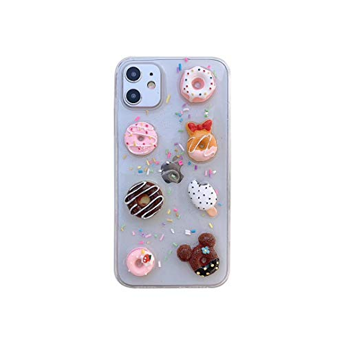 New Kawaii 3D Donuts Case for iPhone 11, Protective Clear Case Series for Apple iPhone 11, Food Phone Case Collection (iPhone 11)