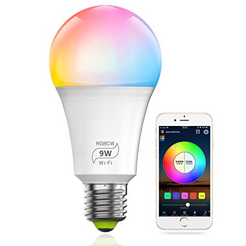 smart dimmable multicolored light bulb