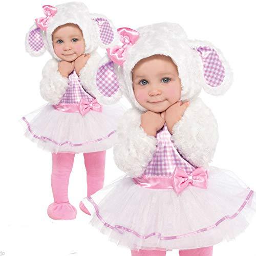 B-Creative Disfraz de oveja de cordero, color rosa