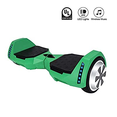 CXMScooter Hoverboard 6.5 inch Self-Balance Scooter w/Bluetooth Speaker UL2272 Certified (Green)