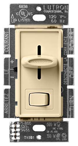 Lutron Skylark LED+ Dimmer Switch for Dimmable LED, Halogen and Incandescent Bulbs | Single-Pole or 3-Way | SCL-153P-IV | Ivory