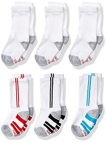 Hanes Jungen 6er Pack EZ Short Crew Socken - - Small