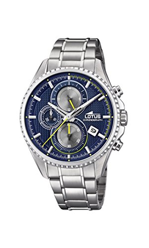 Lotus Watches Reloj Cronógrafo para Hombre de Cuarzo con Correa en Acero Inoxidable 18526/3