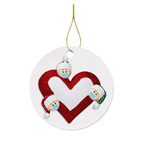 SUPERHUA 2020 adornos navideños decoración colgante producto de regalo personalizado cuarentena familiar Navidad cumpleaños fiesta decoración