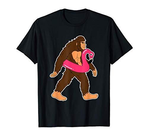 Gorilla Affe Flamingo Schwimmreifen Tier T-Shirt T-Shirt