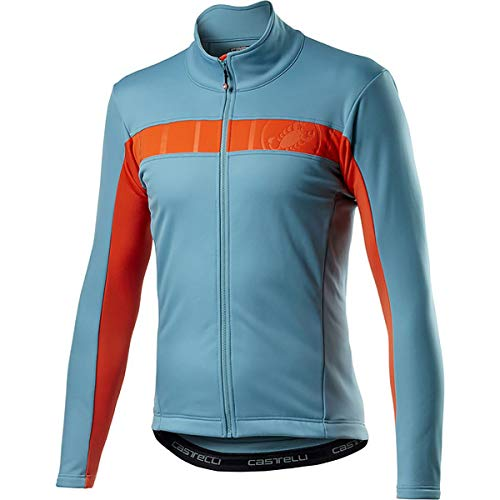 CASTELLI Mortirolo Vi Jacket - Chaqueta deportiva para hombre, Hombre, 4520506, azul celeste, L