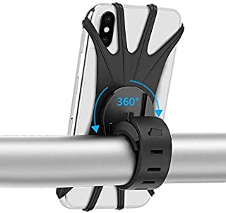حامل جوال سيليكون للدراجات الهوائية يركب علي المقود مناسب للهواتف الذكية من 4 - 6 بوصة