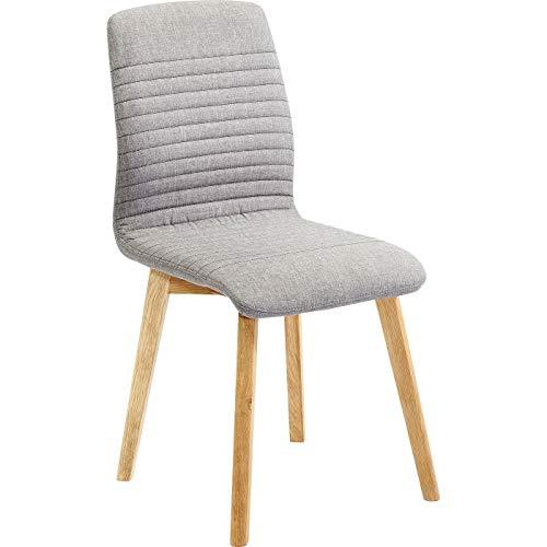 Kare Design Stuhl Lara Grau, bequemer, moderner Esszimmerstuhl im Retro Design, Grau (H/B/T) 92x44x45cm
