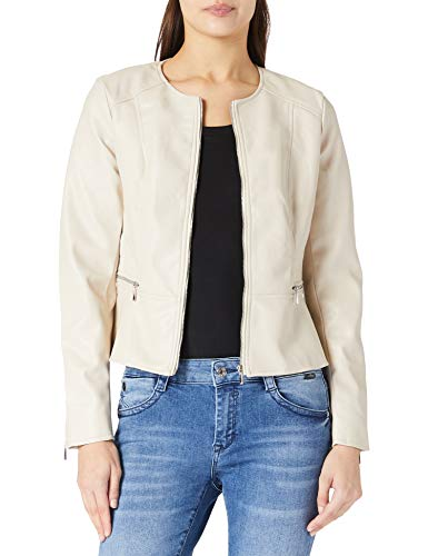 Only ONLJENNY Faux Leather Jacket CC CS OTW Chaqueta de Cuero sinttico, Pumice Stone, XS para Mujer
