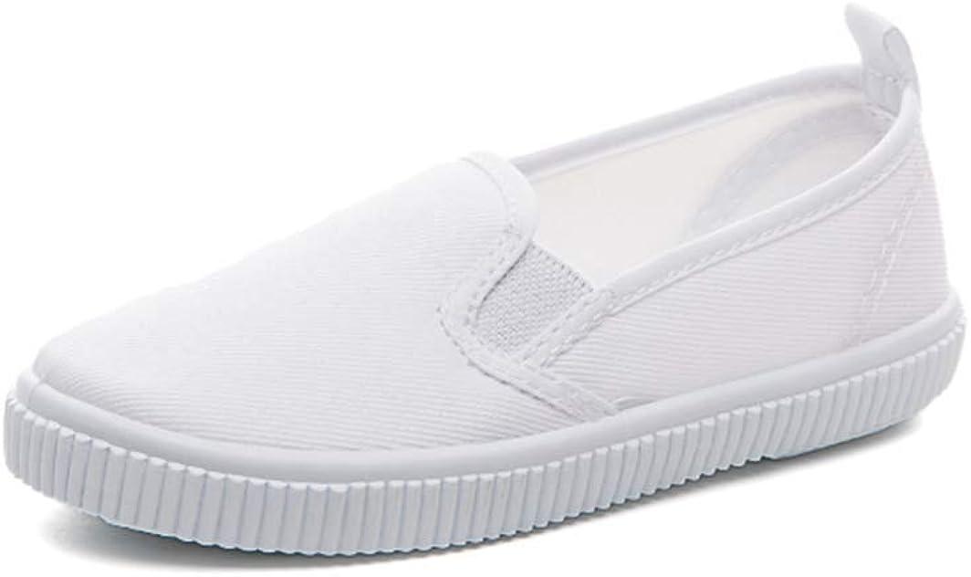 Je-Gou Boy's Girl's Classic Canvas Slip On Fashion Sneaker Skate Tennis Shoes