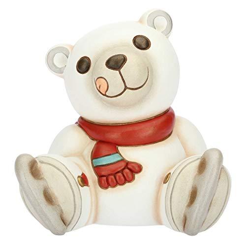 THUN - Orso Polare con Pattini - Formato Medio - Ceramica - 14x13x13,4 cm h