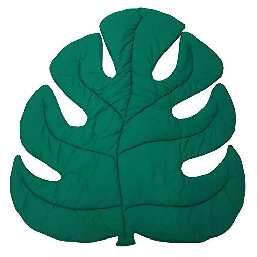 Babymajawelt® Spieldecke XL, Krabbeldecke, Matte, Spielteppich weich gepolstert (Blatt grün)