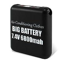 ホワイトナッツ 大容量 6800mAh リチウムイオンバッテリー 単品 ファン付き作業服 PSE 風量調節 4段階式 専用バッテリー 充電状態表示 サンエス コンパクト 空調作業服 【PSE認証済み】