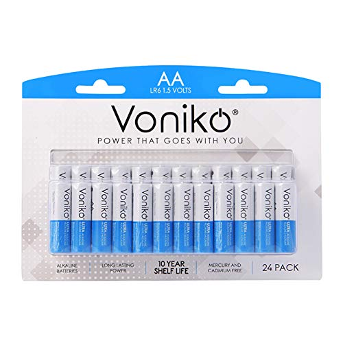 VONIKO - Premium Grade AA Batteries - 24 Pack - Alkaline Double AA Battery - Ultra Long-Lasting, Leakproof 1.5v Batteries - 10-Year Shelf Life