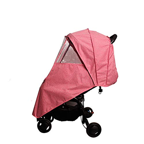 LaChaDa Stroller Cover Weather Shield Universal Waterproof Protection Umbrella Wind Dust Cover for Strollers(Pink)