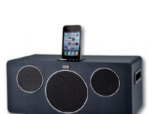 Approx SP07 - Altavoz con purto Dock para Apple iPhone y iPod (52 W RMS, 30 Hz - 20 KHz, 2.1), Color Negro